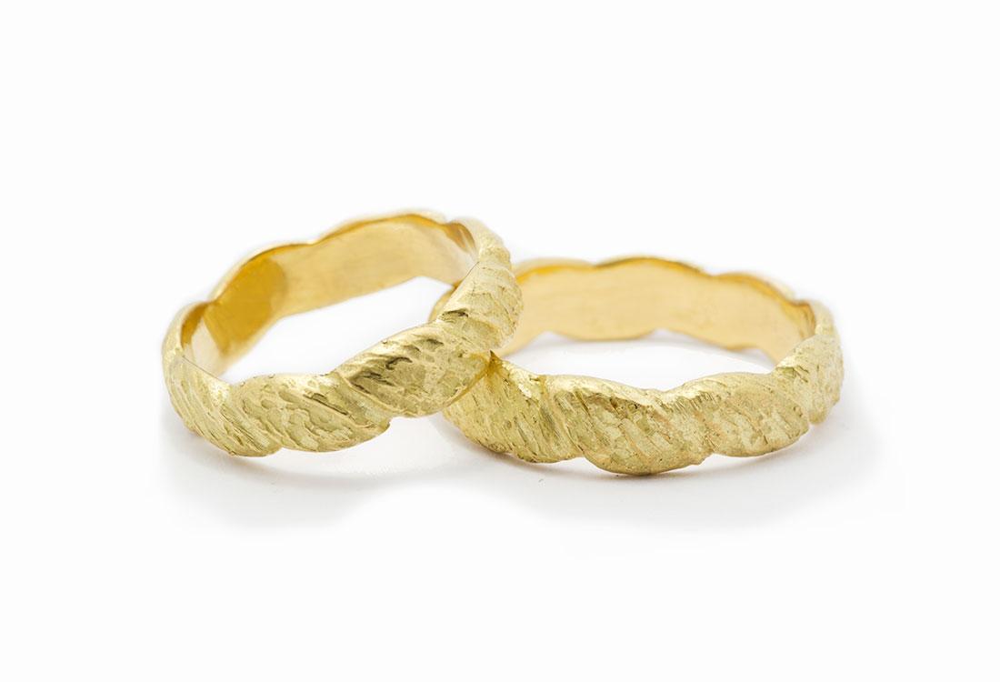 FEDI TURBANTI: realizzate a mano in oro 18Kt , lavorazione Sforza. Disponibili in oro verde e  oro bianco.