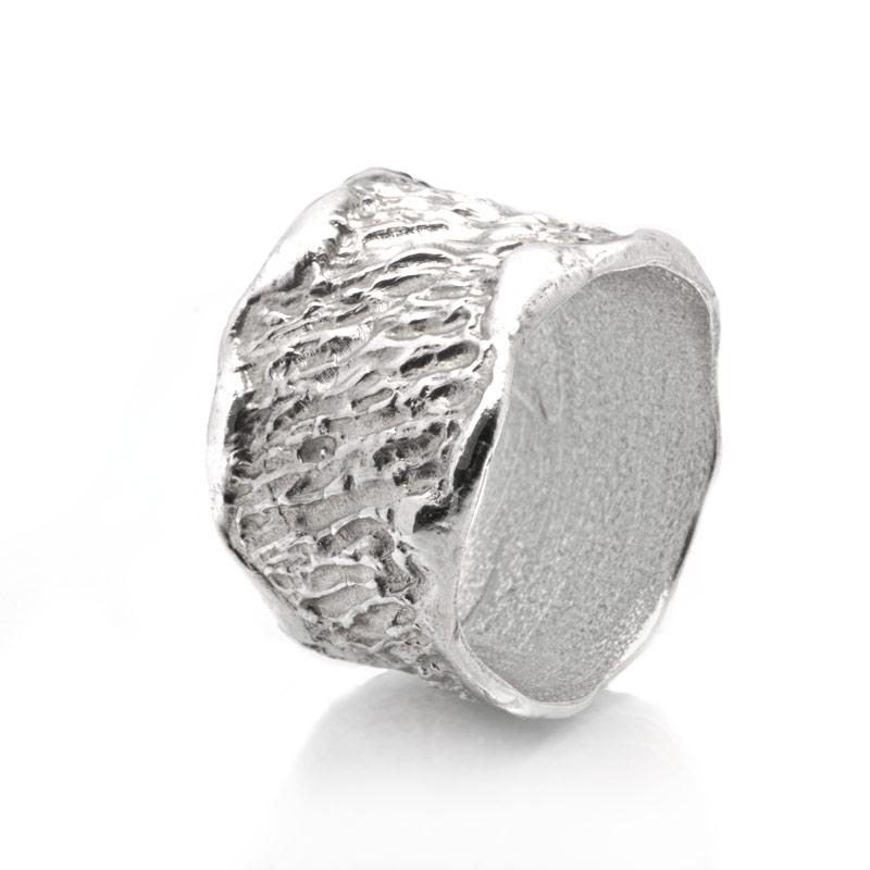ANELLO FASCIA: argento 925, nickel free, realizzato a mano, lavorazione Sforza