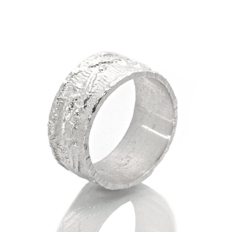 FASCIA FOGLIE ULIVO: argento 925, nickel free, realizzato a mano, lavorazione Sforza