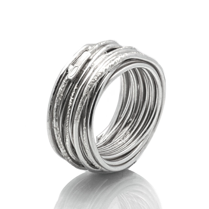 ANELLO FILO: argento 925, nickel free, realizzato a mano, lavorazione Sforza