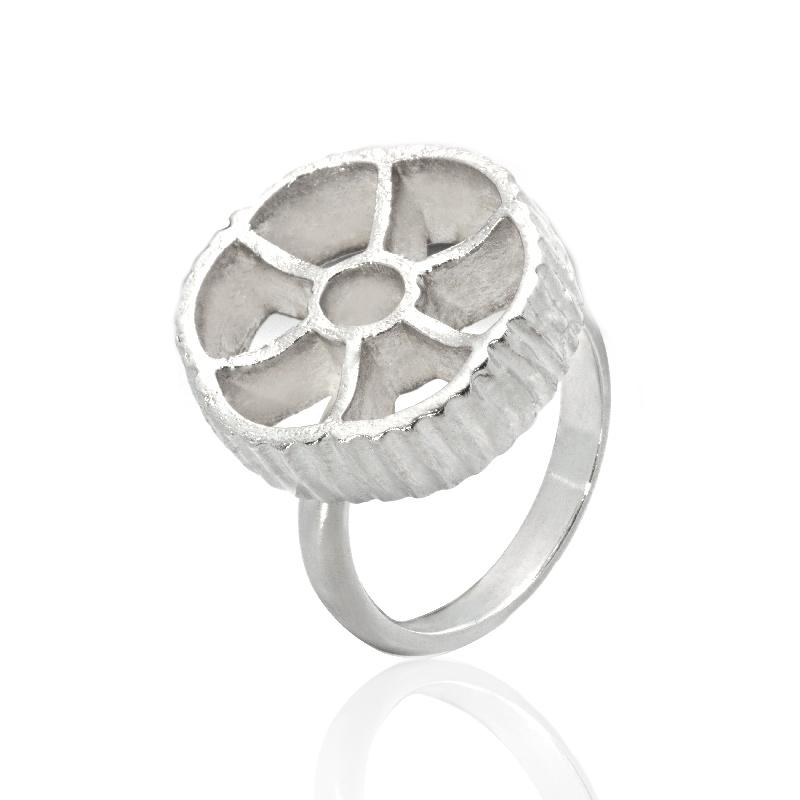 ANELLO PASTA: argento 925, nickel free, realizzato a mano, lavorazione Sforza