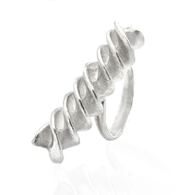 ANELLO FUSILLO: argento 925, nickel free, realizzato a mano, lavorazione Sforza