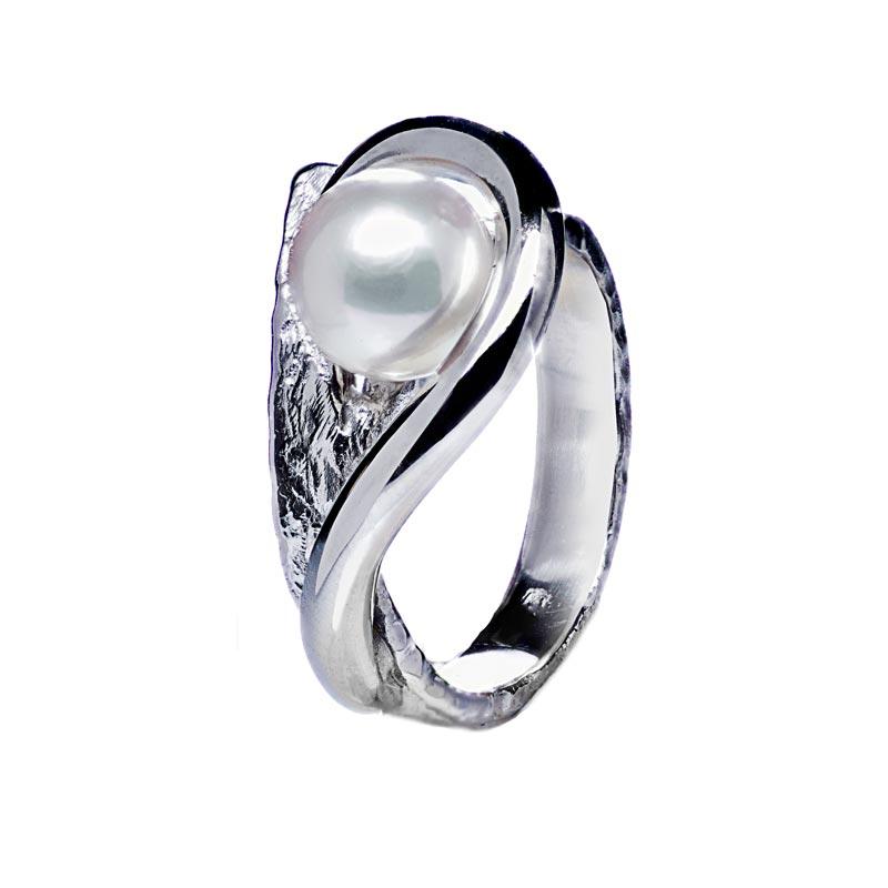 anello argento 925 con perla