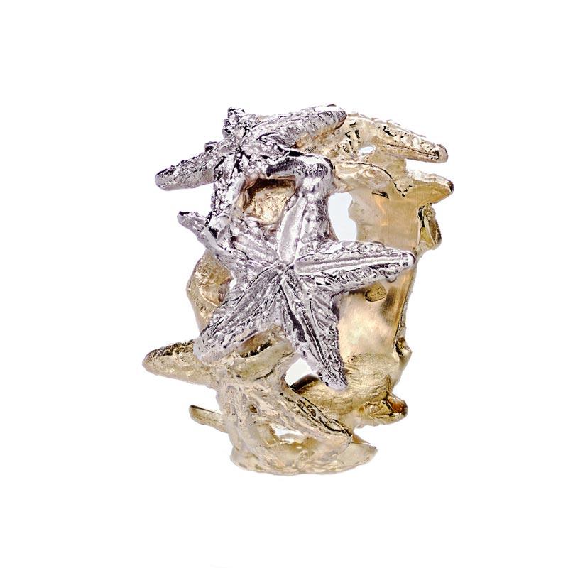 anello oro stelle marine lavorazione sforza