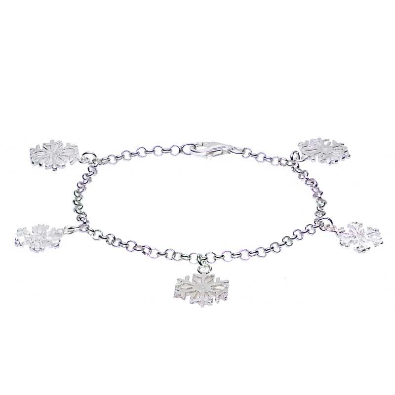 bracciale argento fiocchi di neve donna